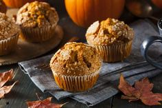 These healthy and grain free pumpkin bread muffins. REID approved, if u choose cinnamon and honey options :) thanks Renee Knight (healthy pumpkin muffins coconut oil) Pumpkin Muffin Recipes, Pumpkin Spice Muffins, Cinnamon Muffins, Apple Cinnamon, Pumpkin Butter, Pumpkin Bread, Canned Pumpkin, Paleo Dessert, Coconut Recipes