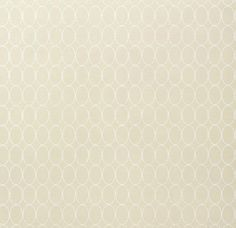 Sonoma Wallpaper Light Beige wallpaper with geometric oval design in White.
