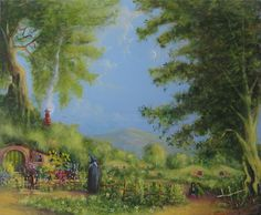 Evening In The Shire. Painting