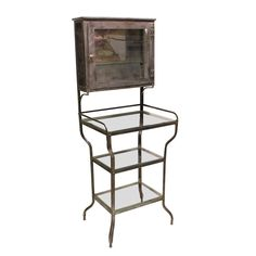 Antique Medical Metal Cabinet   From a unique collection of antique and modern apothecary cabinets at https://www.1stdibs.com/furniture/storage-case-pieces/apothecary-cabinets/
