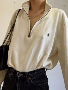 Fashion round collar sweater shirt – isabeliris Source by klonthenet Mode Outfits, Fall Outfits, Casual Outfits, Summer Outfits, Fashion Outfits, Night Outfits, Hipster Fashion Style, Look Fashion, Girl Fashion