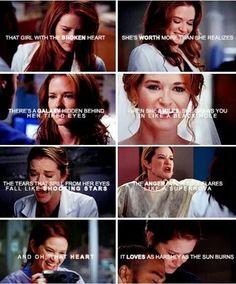 'A damaged soul does not equal a weak one. Greys Anatomy April, Grays Anatomy Tv, Grey Anatomy Quotes, April Kepner, Sarah Drew, Jackson Avery, Dark And Twisty, Medical Drama, Memorial Hospital