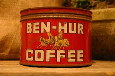 BEN HUR Ben-Hur Coffee Hand Poured Soy Wax Vintage Tin Can Candle PERFECT for Coffee Lovers, Holiday Gift Giiving on Etsy, $45.00