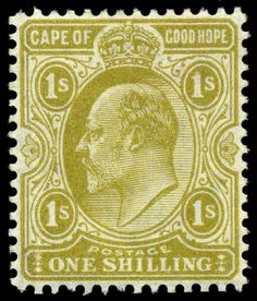 Stamps ©: Stamp of Cape of Good Hope (South Africa). Rare Stamps, Vintage Stamps, Colonial, Cape Colony, Union Of South Africa, King Edward Vii, Commonwealth, Ephemera, Empire