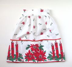 Vintage Christmas Apron Retro Hostess Half by TheVintageResource, $18.25