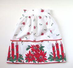 Vintage Christmas Apron Retro Hostess Half by TheVintageResource, $18.25