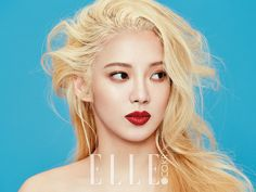Hyoyeon posing in a photo shoot for Elle Magazine March Issue 2015.