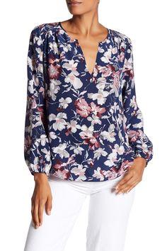 Odelette Silk Floral Blouse