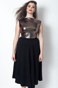 Rebdolls Out of the World Sleeveless Metallic Crop Top barbara ferreira knox
