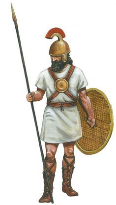 ancient israelite warrior black and white art - Google Search