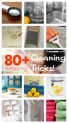 80+ Amazing Cleaning Tips!  Mrs. Hines' Class http://www.mrshinesclass.com/2013/10/13/amazing-cleaning-tricks/
