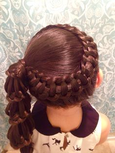 Wrap Around Line Braid finished off with a Carousel Braiding by Kerry Lane❤️