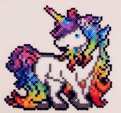 Unicorn perler bead