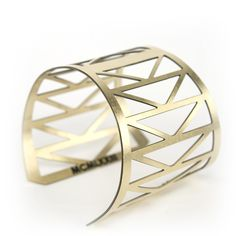 Fremont Bridge Cuff Bracelet from KESTREL. Architectural brass cuff bracelet inspired by the Fremont Bridge in Portland, OR. Made by Betsy + Iya