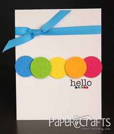 Colorful Hello Card by @Susan Opel