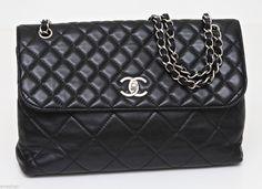 Chanel Black Leather Single Flap Bag  Chanel  Fashion  Chic  Paris Shop  b36f44b65831e