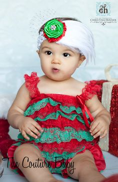 Christmas Cutie Snowflake Headband-The Couture Baby LLC