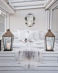 Inside living space that looks like it could be outside. I think this would be great for a winter chalet.