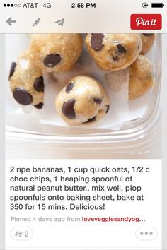 Yummy easy way to have a healthy snack! http://pinterest.com/pin/274508539761199718/