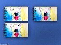 ENGLISH BULL TERRIER DOG 3 X MINI NOTEPADS BRAND NEW GIFT