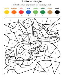 Coloring by numbers: print the dragon for free Coloring by numbers: print the dragon for freeA little bit attracted Original watercolor deer painting by JAshtonArta drawing of ballerina with dress . Colouring Pages, Coloring Pages For Kids, Free Coloring, Coloring Books, Color By Numbers, Paint By Number, Preschool Worksheets, Craft Activities For Kids, Numero D Art