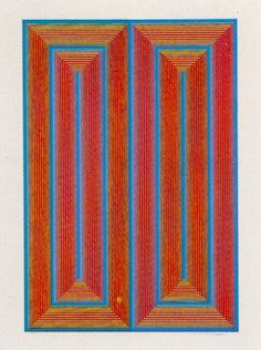 Richard Anuszkiewicz / found on www.kunzt.gallery / Untitled, 1973 / Silkscreen