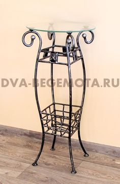 Два бегемота. Кованая мебель для дома. стойки под цветы ....>