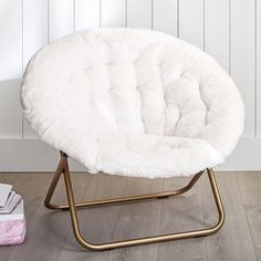 Create a comfy hangout space with Pottery Barn Teen's lounge seating and teen lounge chairs. Shop teen room chairs in many styles, and colors. Teen Bedroom Furniture, Room Ideas Bedroom, Bedroom Decor, White Bedroom Chair, Cute Furniture, Lounge Furniture, White Fluffy Chair, White Fur Chair, White Chairs
