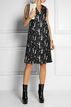 Marni bonded silk dress, netaporter