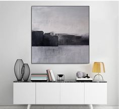 Abstract landscape Art Painting,Black White Abstract Painting,Large Original Mountain Art ,Original Sky Art Painting,Sky Art Painting Black and White Abstract Painting Minimalist ArtLarge Black And White Painting, Black And White Abstract, White Art, Black White, Abstract Landscape Painting, Landscape Art, Landscape Design, Abstract Art, Sala Grande