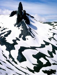 ✮ Melting spring snows on the extinct volcano, Black Tusk, in the rugged coast mountains of British Columbia