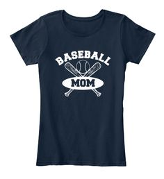 Baseball Mom Shirts 167 New Navy T-Shirt Front