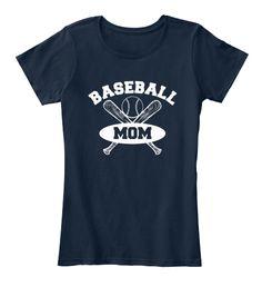 Baseball Mom Shirts 167 New Navy T-Shirt Front
