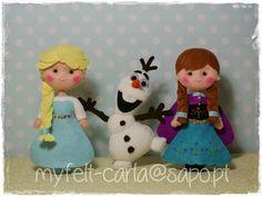 Elsa, Olaf e Anna!