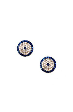 Pave Evil Eye Studs by HYSTERIC Co