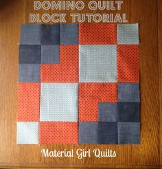 Domino Quilt Block Tutorial