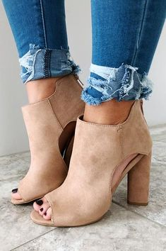Take The Lead Booties: Nude