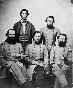 """As the Civil War progressed the image of the Rebel soldier began to shift from the """"ragged rebel"""" look to a well-uniformed Army in the Eastern and Western theaters. In the last 12 months of fighting these Confederate forces were well-uniformed, the best they had ever appeared in terms of consistency, wearing clothing made of imported blue-grey cloth, either manufactured locally or bought read-made under contract from British manufacturers."""