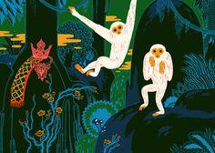 Micah Lidberg   For Nobrow / 2, The Jungle Graphite & Digital