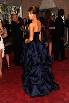 Melania Trump Wears a Christian Siriano Gown to The Met Ball