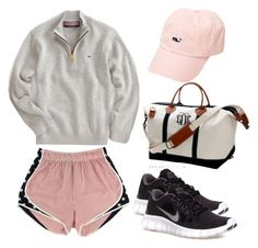 """""""It's a long drive to Vineyard Vines"""" by thepreppyblonde ❤ liked on Polyvore featuring Vineyard Vines, NIKE and country"""