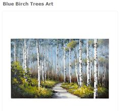Blue Birch Trees Art$199.00 pier1.com