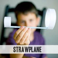 A straw plane - like a paper airplane, but...not.  An easy craft/experiment made with stuff you most likely have on hand...Let's see how long THIS keeps the kiddos occupied...!