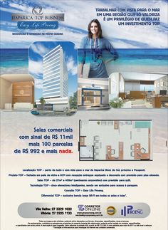 Campanha desenvolvida para o novo empreendimento comercial da Proeng em Vila Velha, construído dentro do conceito Easy Life Proeng. As peças exploram o conceito TOP do empreendimento, com vista para o mar e tecnologia.