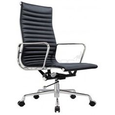 Inspired by the look and design of the modern Eames office chair classics, the premium executive leather office chair not only offers comfortable quality seating, it also infuses a contemporary touch in your office.  Be quick! SALE is strictly for a limited time or while stocks last. $245.00