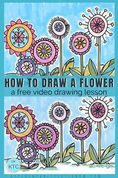 Learn how to draw a flower with this simple step by step drawing lesson.