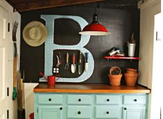 a potting shed. personalized with an M. *sigh*