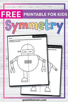 These FREE printable worksheets for kids are great for practicing spatial concepts! These symmetry worksheets can be used as homework, bell-ringer activity, or warm-up activity. Fun things to do with your kindergarten or grade 1 students! Social Studies Resources, Reading Resources, Writing Activities, Teacher Resources, Science Resources, Teaching Ideas, Free Printable Worksheets, Worksheets For Kids, Printables