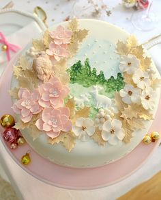 The most beautiful Christmas cake.