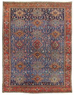 Antique Heriz & Serapi Rugs Gallery: Antique Karaja Rug, Hand-knotted in Persia; size: 8 feet 11 inch(es) x 11 feet 9 inch(es)